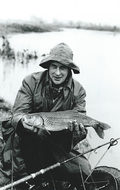 Dick Walker with a fine chub.